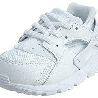 704950-110 KIDS INFANT HUARACHE RUN (TD) NIKE WHITE/PURE PLATINUM/WHITE