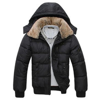 Thick Warm Winter Down Parka Jacket-Black