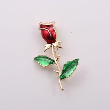 DCCKXT7 Vintage Rose Flower Brooch Women Retro Collocation Accessories