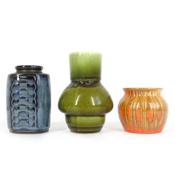 Mid Century Pottery Vases - Instant Collection -- Soholm Stentoj Danish Modern, Stangl USA & Japanese Stoneware -- 70s Small Ceramic Vases