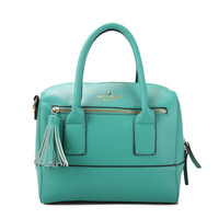 Kate Spade Southport Avenue Alessa Leather Satchel Purse Bag Giverny Blue [Kate Spade Handbags Store 69] - $118.99