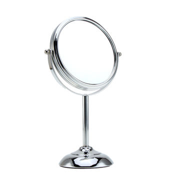 6 Inch 10x Magnification Round Shape Circular Double Dual Side Rotating Makeup Cosmetic Vanity Desk Stand Mirror
