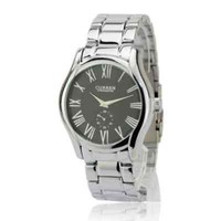 New Men's Luxury Round Dial Silver & Black Dress Analog Watch