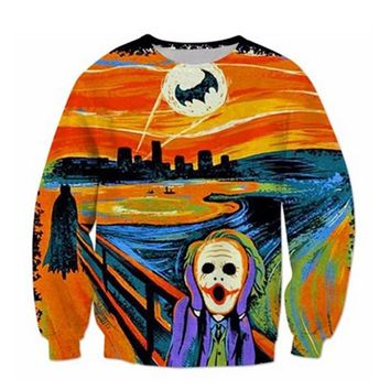 Alisister Fashion 3D Hoodies Harajuku The Joker Crewneck Sweatshirt Tops Men Women Hipster Hoodie Pullovers Big Size Dropship