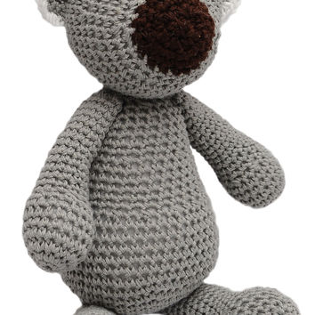 Gray Koala Handmade Amigurumi Stuffed Toy Knit Crochet Doll VAC