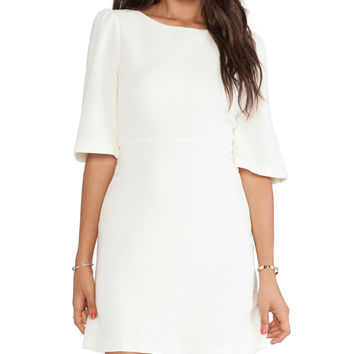 Alice + Olivia Maely Bell Sleeve Dress in Cream