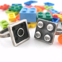 Interlocking Ring Set Building Block Collection by rubygirl