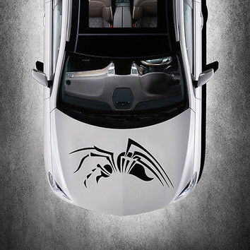 EVIL SPIDER ANIMAL DESIGN HOOD CAR VINYL STICKER DECALS ART MURALS SV1498