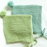 Handknit baby hat with pompom – Knit by hand with 100% Merino wool. Choose your color and size 0 – 24 months, Take home outfit