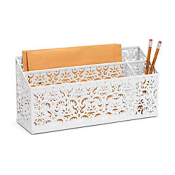 Realspace Brocade Desk Organizer White by Office Depot