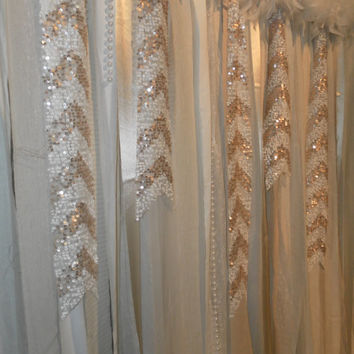 Gatsby Garland- Backdrop- Photo Prop- Curtain-Sequin Chevron -TREND alert