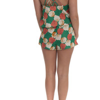 Jealous Tomato Shorts Flowers Tie Green – Famous Style by Stalhi Boutique