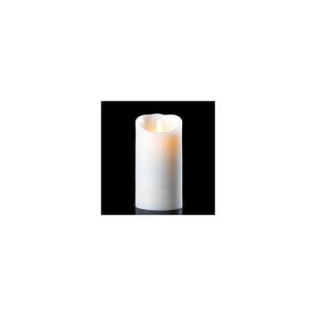 "8.75"" Off-White Luminara Flickering Flameless LED Lighted Outdoor Pillar Candle"