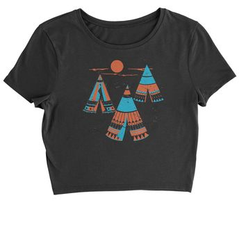 Native American Teepee Tipi Southwest Cropped T-Shirt
