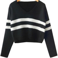 Black Crop Sweaters