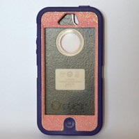 Otterbox Case iPhone 5 Glitter Cute Sparkly Bling Defender Series Custom Case Cotton Candy /purple