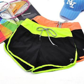 Hygroscopic Quick Drying Sashes short pants Slimming mini Running Sport goddess Shorts For young girls 4 color M L