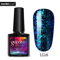Modelones UV Nail Varnishes 10ML Galaxy UV Nail Gel Polish Long Lasting Shiny Glitter Led Gel Polish Chameleon Effect UV Lacquer