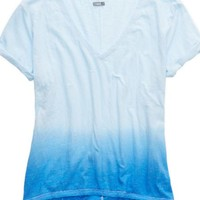 Aerie Women's Deep V-neck Oversized Dip Dye T-shirt