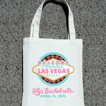Las Vegas Casino Roulette Bachelorette Party Getaway Totes- Wedding Welcome Tote Bag