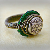 I'm With The Band, Wire Wrapped Ring - Gunmetal Wire