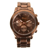 Chocolate Brown Lux Watch