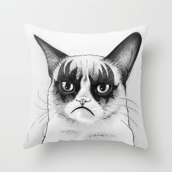 Grumpy Cat Pillow, Tard Simmons, KISS Mashup Throw Pillow by Olechka | Society6