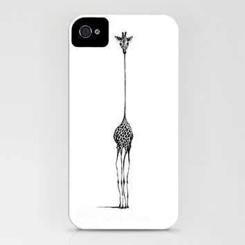 Giraffe iPhone Case by Nicole Cioffe | Society6