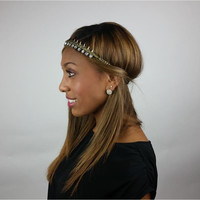 Kira Bronze Pink Pewter Headband