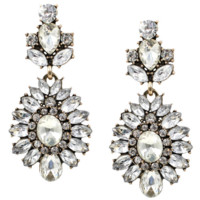 New alloy diamond pendant earrings sparkling earrings jewelry