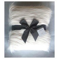 Threshold™ White Fur Throw