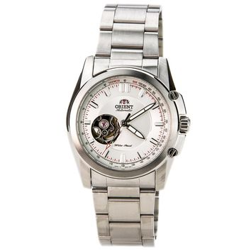 Orient DB02004W Mens STI Commuter Semi Skeleton White Dial Stainless Steel Watch
