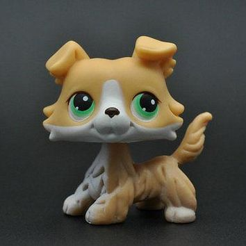 Without Magnet Pet Collie Dog Child Girl Figure Toy Loose Cute Xmas LP927