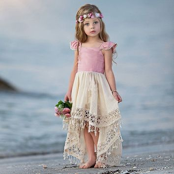 Girls Kids Summer Baby Sweet Princess Lovely Party Wedding Holiday Beach Dress