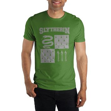 Harry Potter Slytherin Element of Water Men's Green T-Shirt