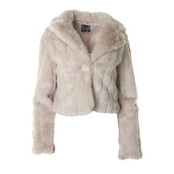 Lipsy Limited Womens Faux Fur Shawl Collar Coat