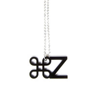 Cmd-Z Undo Necklace - Paper Trail