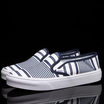 VLXZRBC Trendsetter Vans Slip-On Canvas Stripe Flats Sneakers Sport Shoes