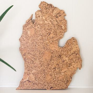 Cork Map of Michigan - Lower Peninsula