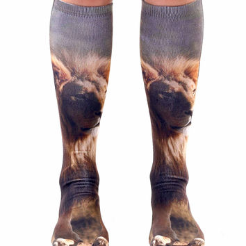 Lion Knee High Socks