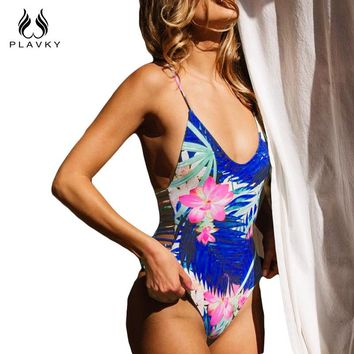 Floral Tie Dye High Waist Women Swimming