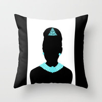For Audrey (black frame) Throw Pillow by Miss Golightly | Society6