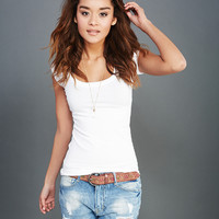 Solid Scoop Tee | Wet Seal