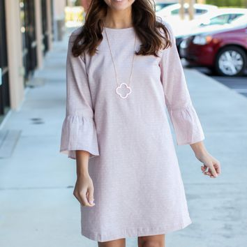 All For The Shift Dress - Light Mauve