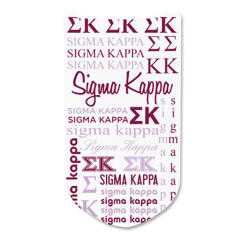 Sigma Kappa - Sorority Full Print Word Art No-Show Socks - 1 pair