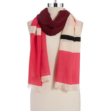 Kate Spade New York Wool Striped Scarf