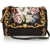 Dolce & Gabbana | Miss Charles tapestry and leather shoulder bag | NET-A-PORTER.COM