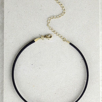 Gem Show Black and White Choker Necklace