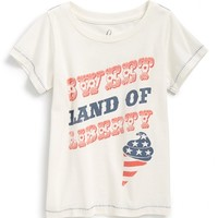 Infant Girl's Peek 'Sweet Land of Liberty' Graphic Tee,