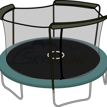 SkyBound 15 Foot Trampoline Net - Fits 15 Foot Frames with 3 Arch Enclosures